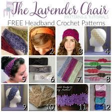 Crochet Headband Pattern Best FREE Headband Crochet Patterns The Lavender Chair