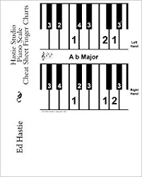 Piano Notes Chart Flats And Sharps Hastie Studio Piano Scale Cheat Sheet Finger Charts Ed