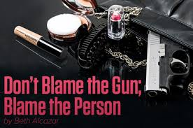 don t blame the gun blame the person uscca