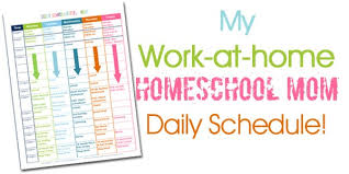 Daily Homeschool Schedule Template A Homeschooling Moms Daily Schedule Confessions Of A Homeschooler