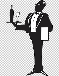 Wine A Free Butler Uihere Png Glass Cliparts Logo Of Clipart Servant Holding Tray