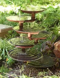 rock garden waterfall outdoor decor garden fountains small ideas 63