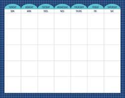 Calm Cool Calendar Chart
