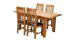 slat back chairs. Parker Extending Dining Table \u0026 Set Of 4 Slat Back Chairs Oak   DFS Ireland U