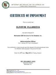 Employment Certificate Template Mesmerizing New Sample Certificate Of Employment 44 Certificate Of Employment