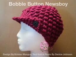 Loom Knitting Hat Patterns Stunning Bobble Button Newsboy Loom Pattern GoodKnit Kisses