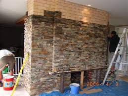 amazing can you install stone veneer over brick pertaining to stone veneer over brick fireplace ordinary
