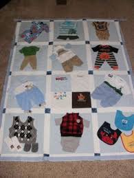 Large throw size Patchwork Style Quilt made from baby clothing ... & Baby clothes Quilt custom made for Dana Adamdwight.com