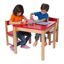 alex toys artist studio wooden table and chair set red