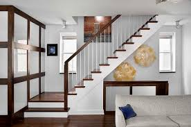 Elegant Simple Stairs Design Vertical Wooden Lines Make A Great Impression  Unclear Pic
