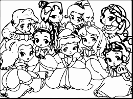 Baby Princess Coloring Pages Disney Printable Sheets Peach All