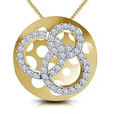 vorra fashion 14k yellow gold over 0 925 sterling silver circle of life shape women pendant