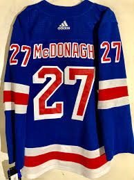 Details About Adidas Authentic Nhl Adizero Jersey New York Rangers Ryan Mcdonagh Blue Sz 46