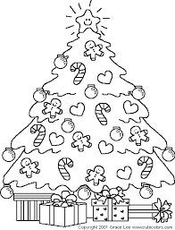 Christmas Tree Coloring Pages Coloring Book 28 Free Printable