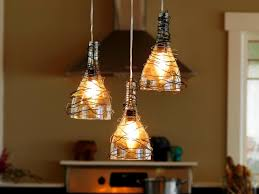 kitchen swag pendant light upcycle wine bottle into fixtures how tos diy to make lights multiple hanging lamps home depot over island without chain canada s
