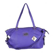 Coach Bleecker Logo Charm Medium Purple Satchels DWO
