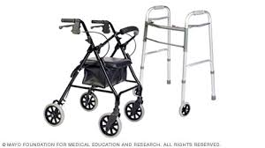 Rollator Comparison Chart Slide Show Tips For Choosing And Using Walkers Mayo Clinic