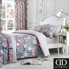 fl tulip flowers geometric pink super king duvet cover for