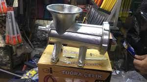 Tuğra Çelik Büyük Boy Kıyma Makinesi 22 lik Elle Çevirme Kollu - Tuğra  Çelik Kıyma Makinesi Çeşitleri Fiyat ve Çeşitleri