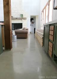 diy sealed concrete floor