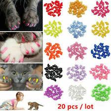20pcs soft plastic colorful pet cat