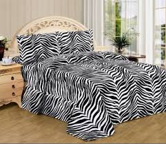 3 piece zebra animal print super soft executive collection 1500 series bed sheet set twin size black and white zebra com