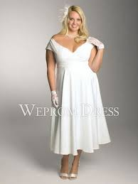 plus size wedding dresses with sleeves tea length serious backless plus size lace tea length short sleeve a line lace