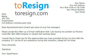 Resignation From The Company Financial Adviser Resignation Letter Example Toresign Com