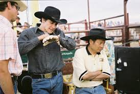 ang lee on the brokeback mountain set brokeback mountain  ang lee on the brokeback mountain set brokeback mountain ang lee