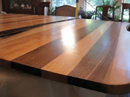 beautifully finished walnut oak mixed table top