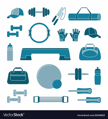 Two Tone Icons Accessories For Fitness Two Tone Silhouette Icons Vector Image