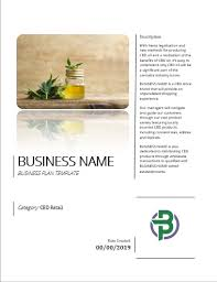 Retail Business Plan Outline Cbd Products Retail Online Store Business Plan Template