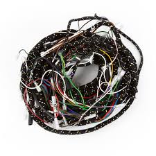 tech moss wiring harnesses moss motoring later harness pvc insulated wires woven cotton cover