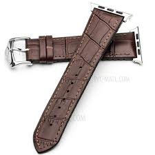 qialino top layer cowhide genuine leather watch strap replacement for apple watch series 4 44mm