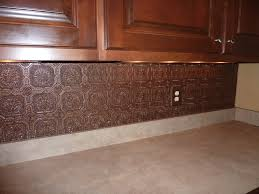 faux kitchen tile wallpaper. textured wallpaper backsplash painted with aged copper paint faux kitchen tile s