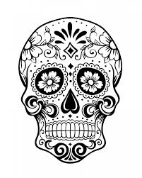Day Of The Dead Skull Coloring Page Collections Of Girl Sugar Skull