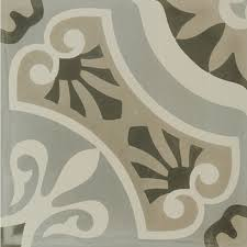 12 X 12 Decorative Tiles Hydraulic Grey 100 x 100 Floor Tile Porcelain Tile at The Tilery 4