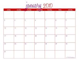 The Tomkat Studio Free Printable Calendar January 2010