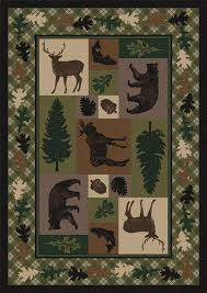 log cabin area rugs