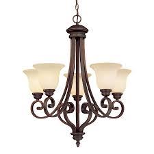 millennium lighting oxford 27 in 5 light rubbed bronze mediterranean scavo glass shaded chandelier