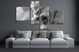 black and white paintings for living room piece grey modern large canvas on piece wall art