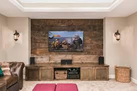Basement <b>TV Wall</b> for Home Theater - Рустика - Подвал ...