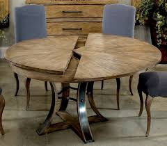 dining tables 56 round table with self storing leaves gray bleached oak wood