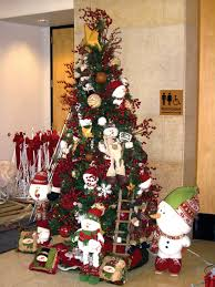 ... Comely Look Of Red And Silver Christmas Tree Decorating Ideas :  Delectable Design Ideas Using Red ...