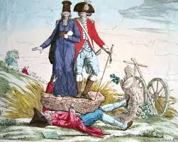 beyond common era by nud the emergence a political cartoon reflecting the french society in the 18th century portraying the third estate was squished by the first and the second estate