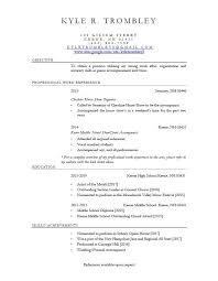 Resume Site New Kyle's Résumé Of Music Kyle R Trombley