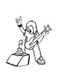 Small Picture Coloring page rock star img 10751