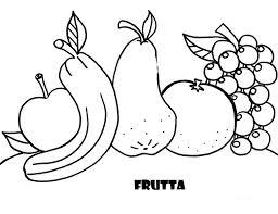 Frutta Da Colorare Disegni Facili Da Copiare Per Bambini Immagine