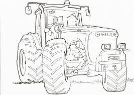 Coloriage De Tracteur John Deere Avec Remorque A Imprimer L