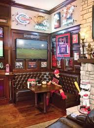 basement sports bar. Sports Themed Living Room Pub Basement Bar Ideas Football Man On Stool